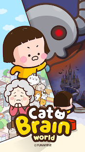 Cat Brain World - Tricky Puzzle Game