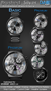 Brushed Silver HD Watch Face Widget Live Wallpaper 5.1.0 Mod APK Latest Version 1