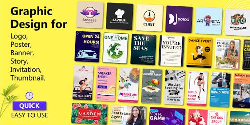 Brand Maker - Logo Maker, Graphic Design App 12.0 Screenshots 1