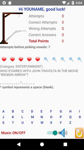 triviahangman screenshot 1