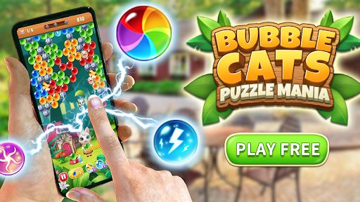 Bubble Shooter Cats POP : Puzzle Mania 1.1.3 screenshots 11