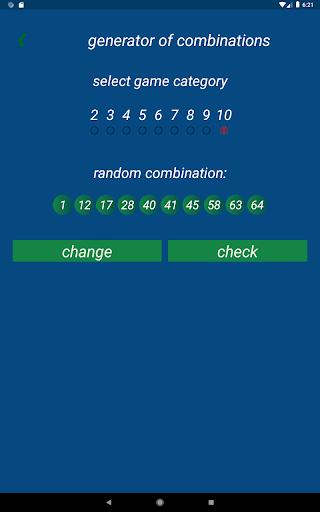 Keno FR combination statistics  screenshots 18