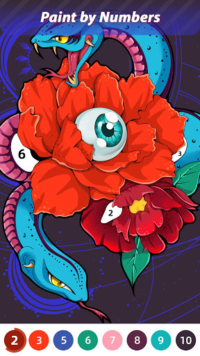 Flora Coloring: Color by Number Painting Game apktreat screenshots 1
