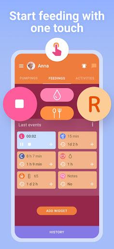 Breastfeeding Newborn tracker, pump and baby diary  Screenshots 1