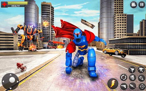 Flying Hero Robot Transform Car: Robot Games Apkfinish screenshots 7