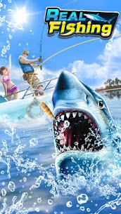Real Fishing – Ace Fishing Hook game MOD APK 1.1.1 (Unlimited Hook) 1