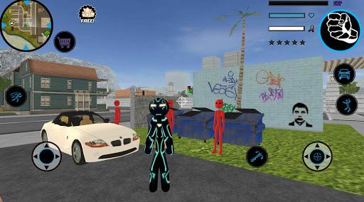 Neon Iron Stickman Rope Hero City Gangstar Mafia  Screenshots 2