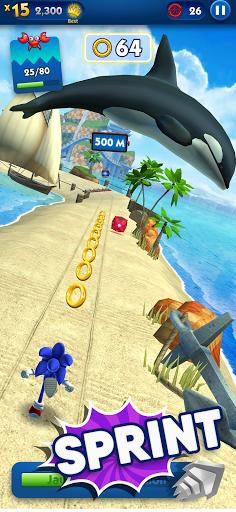 Sonic Dash - Jeu de course à pied et saut ! screenshots apk mod 2