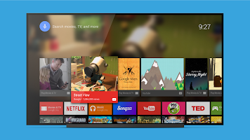 screenshot of Android TV Launcher
