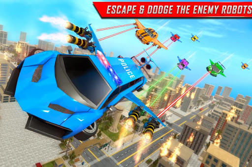 Flying Limo Robot Car Transform: Police Robot Game  screenshots 2