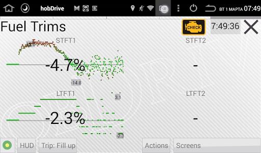 HobDrive OBD2 ELM327, car diagnostics, trip comp 1.6.12 Screenshots 3