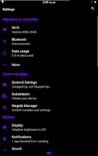 Dark Infusion Substratum Theme for N, O and Pie v20.5 [Patched] 5