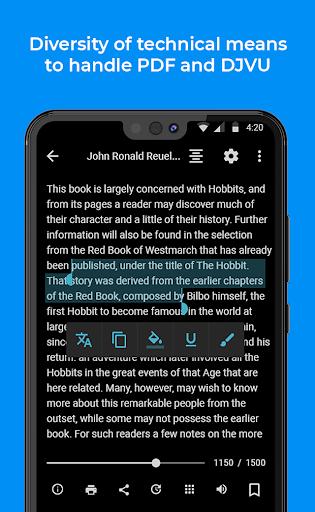 FullReader - reader for fb2, pdf, djvu, txt, epub  Screenshots 4