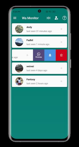 Wa Monitor - Online Last Seen Tracker For WhatsApp Apk 1.7.5 screenshots 2