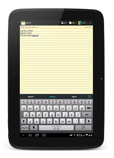 NOTES 1.27 Screenshots 11