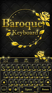 Gold Keyboard Theme - Baroque