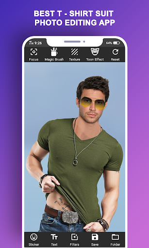 Man T-Shirt Suit Photo Editor modavailable screenshots 5
