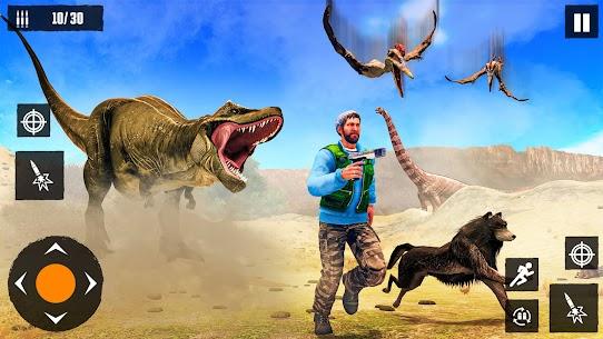 Dino Hunting Games 2021: Dinosaur Games Offline Mod Apk (God Mode) 6
