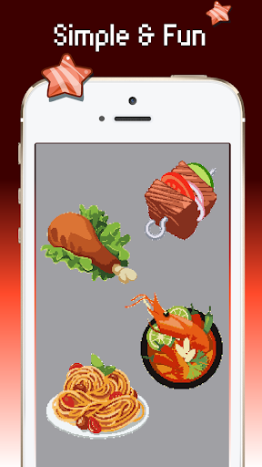 Food color by number : Pixel art coloring 1.5 screenshots 5