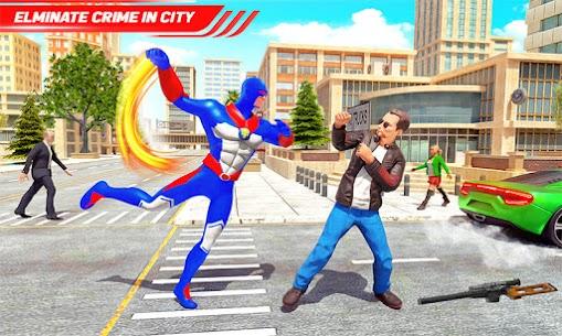 Flying Police Robot Rope Hero: Gangster Crime City 6