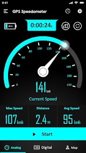 GPS Speedometer : Odometer and Speed Tracker App 2