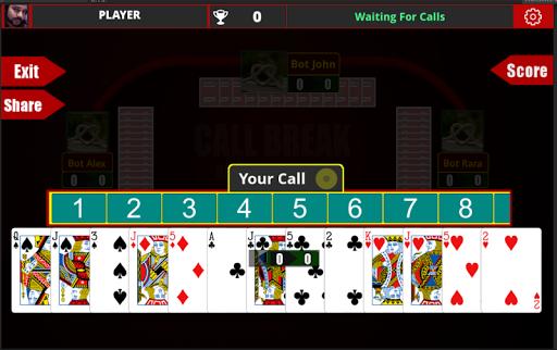 Call Break Card Game -Online Multiplayer Callbreak  Screenshots 9