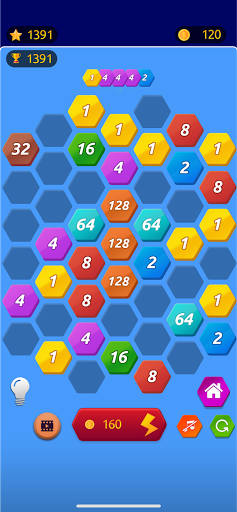 Number Merge 2048 - 2048 hexa puzzle Number Games 7.9.12 screenshots 1
