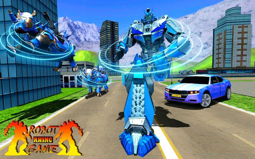 Rhino Robot Car Transformation: Robot City battle 0.6 screenshots 4