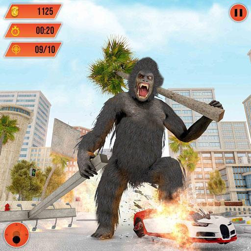 Baixar Gorilla City Rampage :Animal Attack Game Free para Android