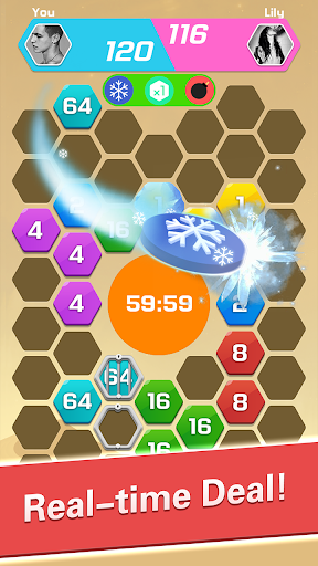 Merge  Block Puzzle - 2048 Hexa modavailable screenshots 3