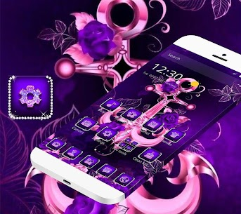 Purple Glitter Anchor Theme For Pc   How To Install (Windows 7, 8, 10 And Mac) 2