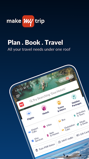 MakeMyTrip Travel Booking: Flights, Trains, Hotels 8.2.9 screenshots 1