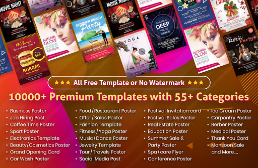 Flyers, Posters, Banner, Graphic Maker, Designs 1.2.1 Screenshots 1