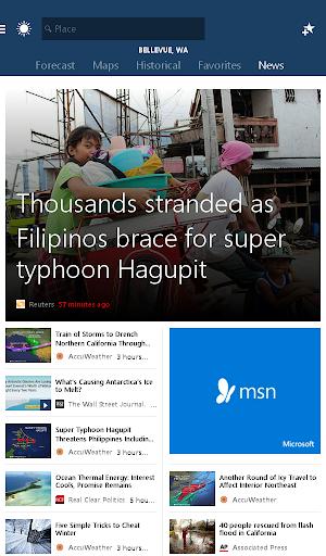 MSN Weather - Forecast & Maps 1.2.0 Screenshots 14
