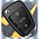 車のキーロックリモートシミュレータ