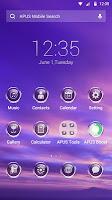 Purple Sky-APUS Launcher theme