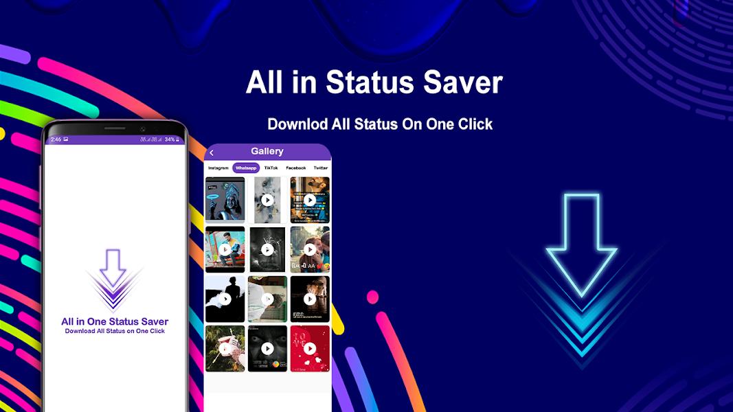 All Status Download App: Social Media Status Saver