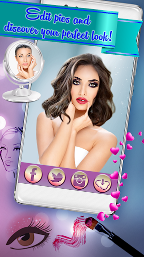 Hairstyle & Makeup Beauty Salon with Photo Effects  screenshots 4