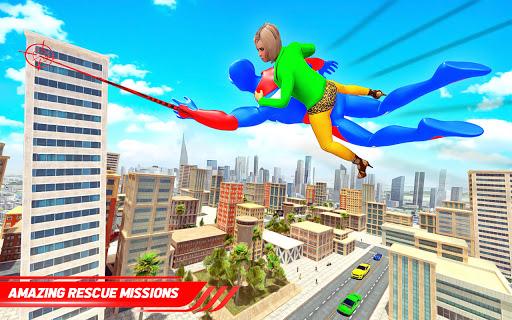 Flying Police Robot Rope Hero: Gangster Crime City  screenshots 9