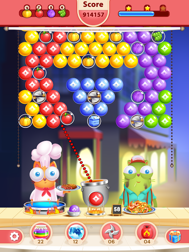 Kitten Games - Bubble Shooter Cooking Game apkmr screenshots 16