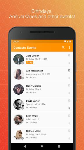 Contacts' Birthdays  screenshots 1