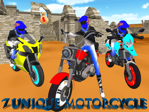 Motorcycle Escape Simulator - Fast Car and Police screenshots 1