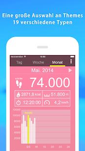 Schrittzähler - Pedometer und Activity Tracker App Screenshot