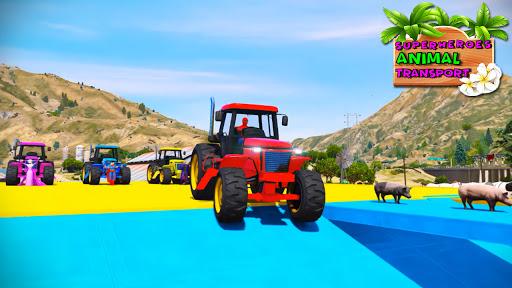 Code Triche Tracteur agricole: Superhero conduite (Astuce) APK MOD screenshots 4