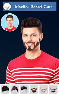 Hairy - Men Hairstyles beard & boys photo editor 6.6 Screenshots 5
