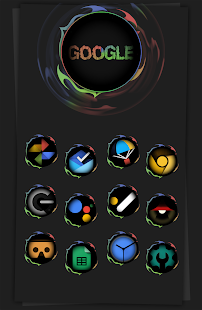 Black Army Omni - Icon Pack - Fresh dashboard Screenshot