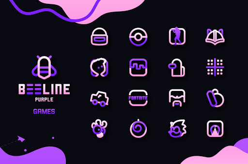BeeLine Purple Iconpack