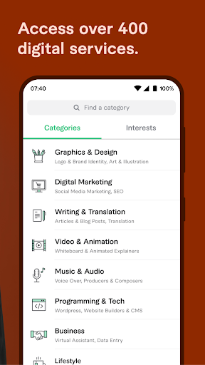 Fiverr: Find Any Freelance Service You Need 3.3.4.2 screenshots 4