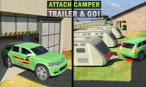 Camper Van Truck Simulator: Cruiser Car Trailer 3D screenshots 4