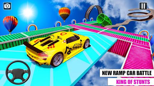 Ramp Car GT Racing Stunt Games 2020: New Car Games apkslow screenshots 14